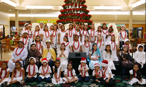 St. Elizabeth Kicks-off Their Christmas Island Tour at Kahala Mall